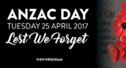 ANZAC Day ceremony Friday 21 April